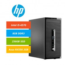 HP-400-G2-MT-i5-4570-8GB-DDR3-256GB-SSD-Asus-RX550-2GB-GDDR5-Win10